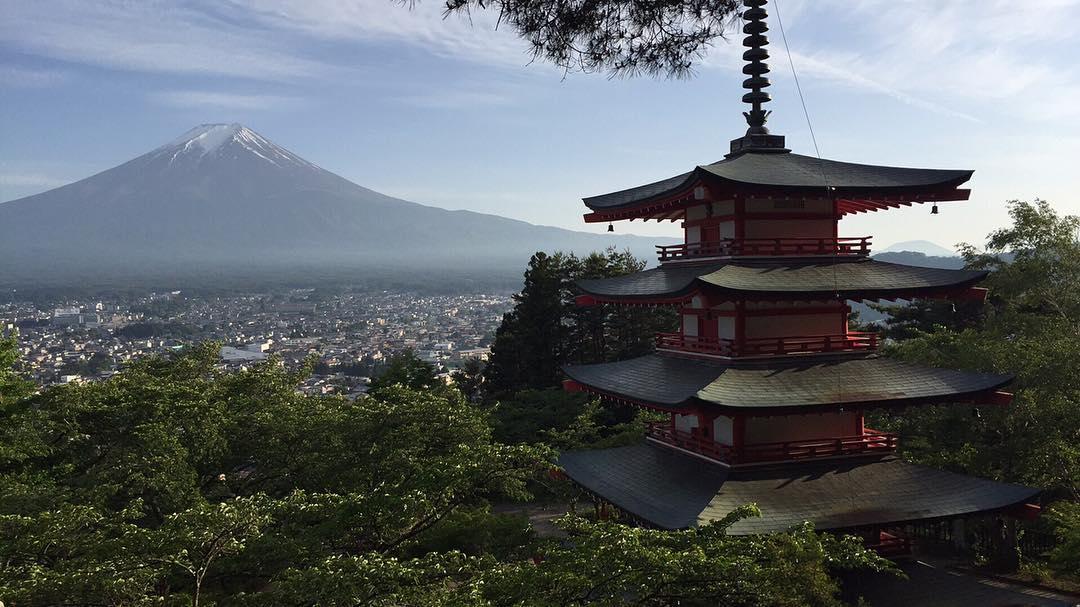Mt. Fuji and Chureito Pagoda near Tokyo