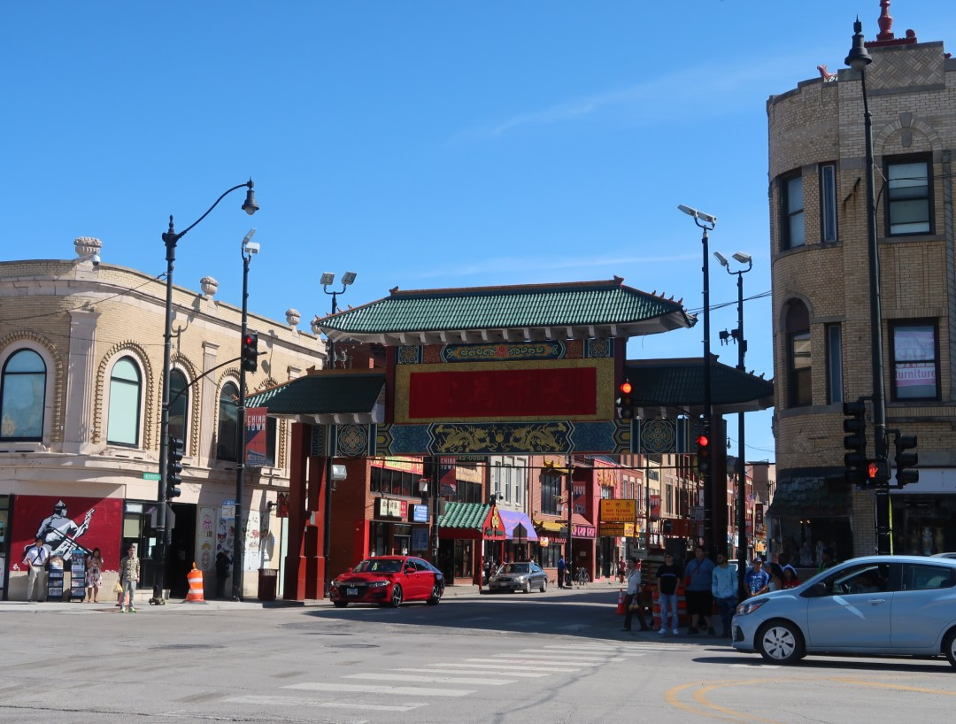 arch entryway into Chinatown Chicago