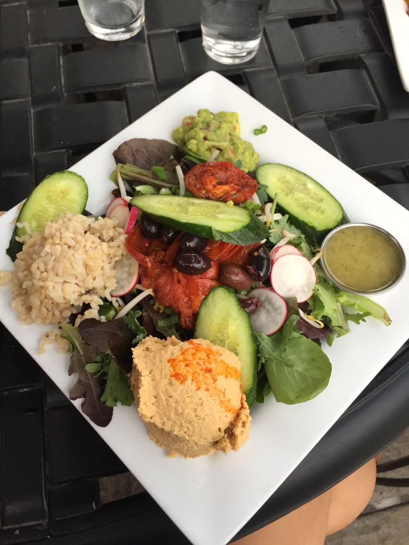 close-up of salad