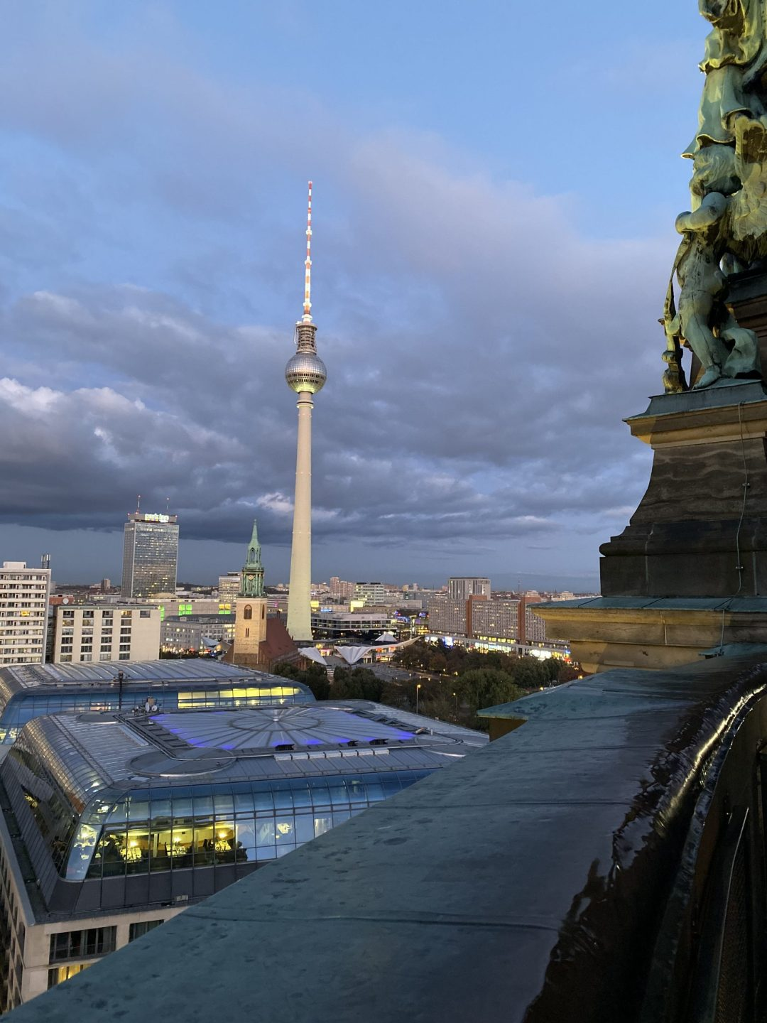 Berlin Cathedral: city view from the top