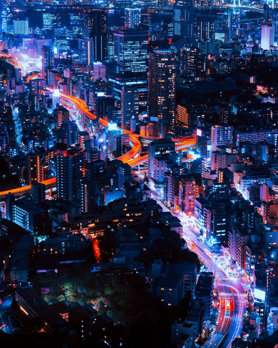 Tokyo, Japan cityscape at night