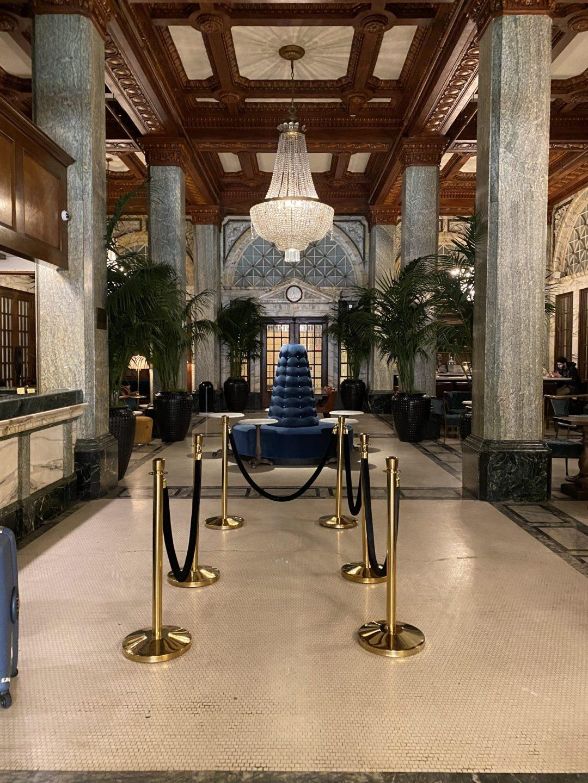 lobby of Hotel Whitcomb in San Francisco