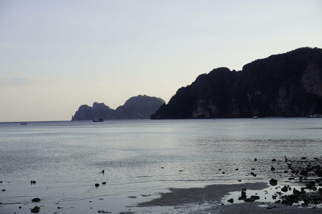Beach of Koh Phi Phi Don at sunset, Thailand
