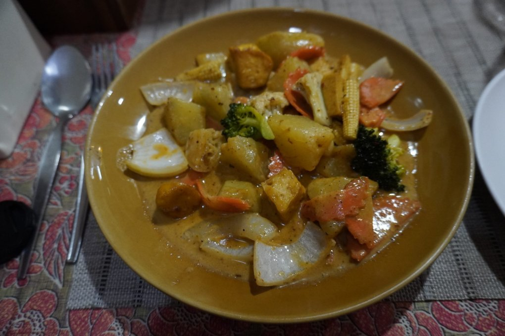 Tofu masaman curry from Tom Yam, Koh Phi Phi Don, Thailand