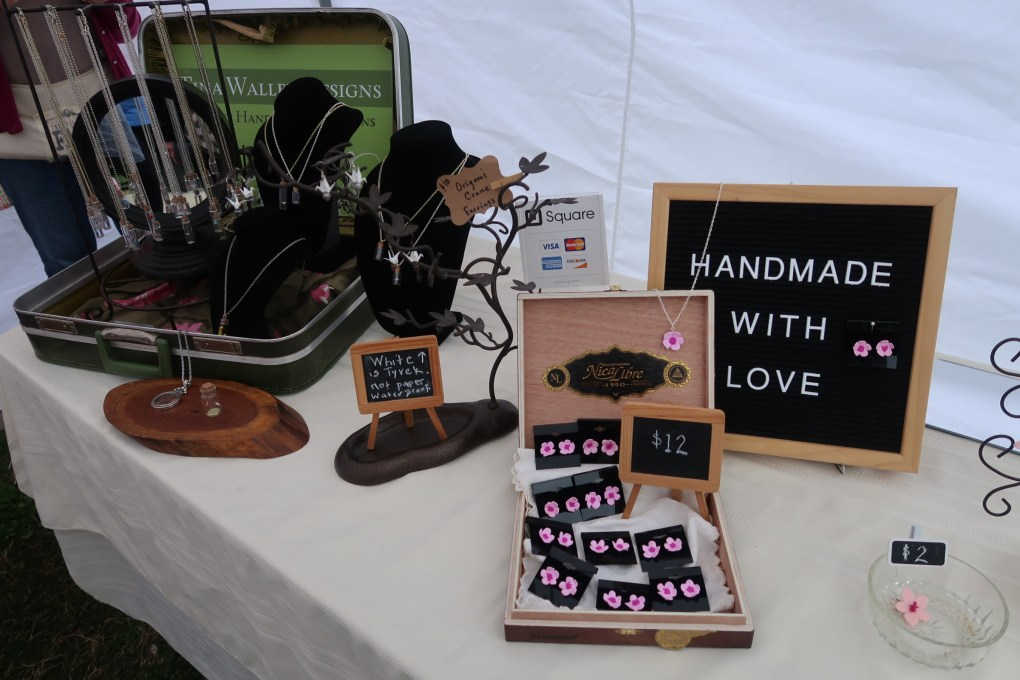 Handmade jewelry shop at the Nashville Cherry Blossom Festival 2019