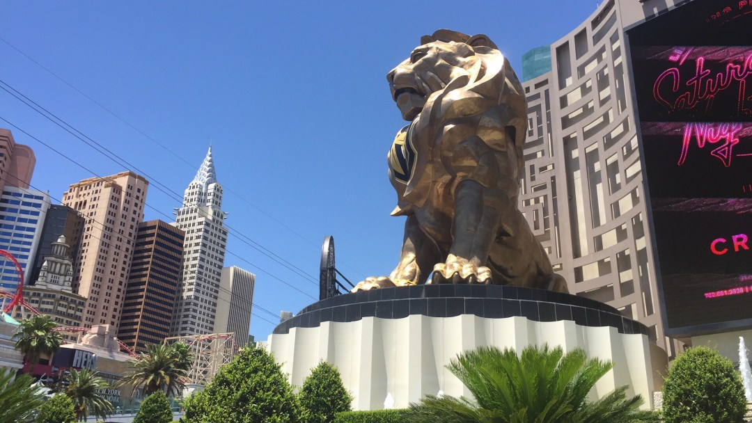 the lion at MGM Grand