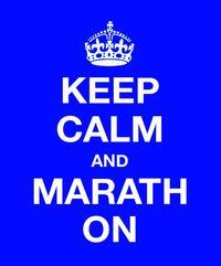 Keep calm and marath on