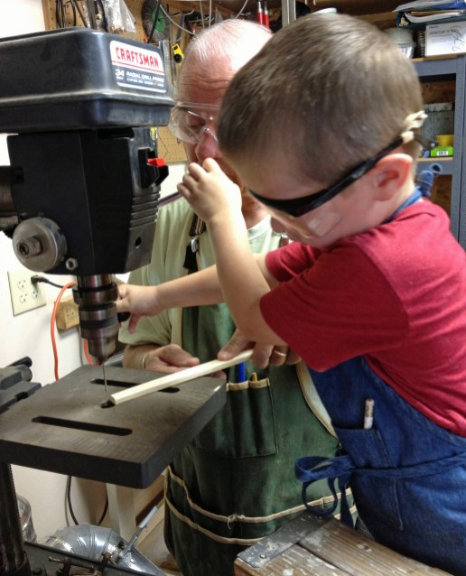 Every 5 year old should learn to use a drill press.