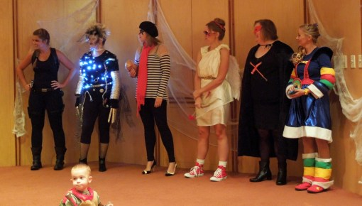 Best Costume - Female | Lara Croft, Susie Scissorhands (Edward's Mother), French Kiss, Cupid, SSX Super Hero, Rainbow Brite