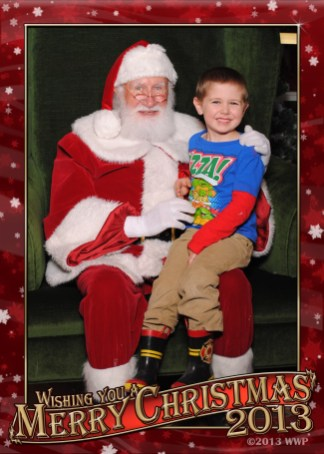 With Santa at the mall.