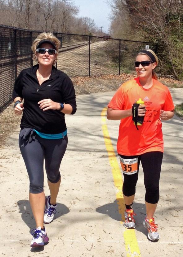 With Alex - her first marathon relay.