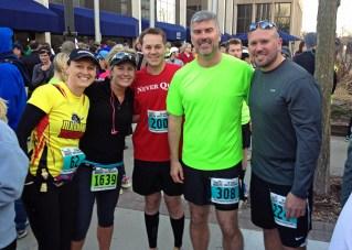 Amanda + Sarah + David + Greg + Kyle   Running friends!