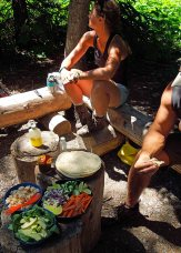 Lunch at camp