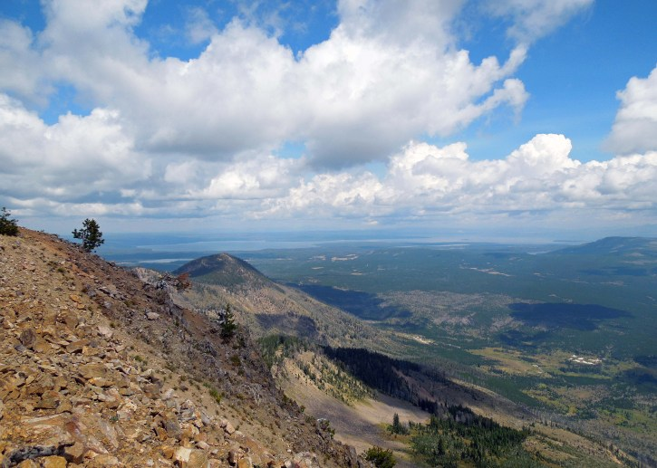 View from the trail to Mt. Sheridan