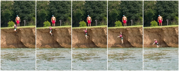 Cliff-diving hopeful