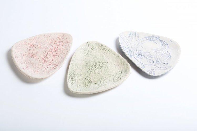 cocktail plates - irish pottery