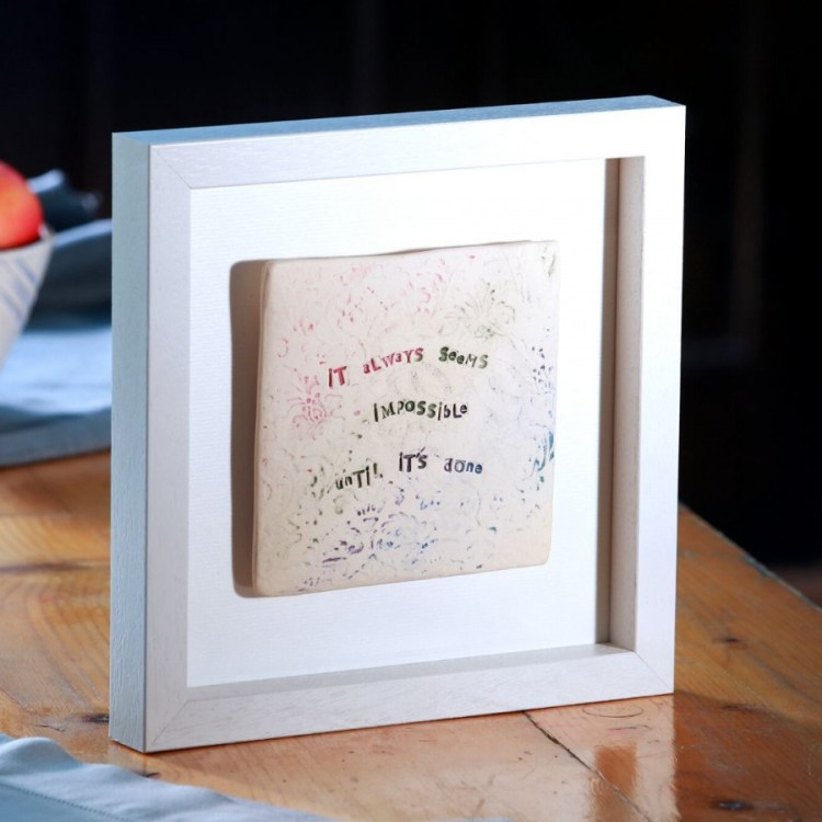 Rainbow Collection - inspirational framed tiles