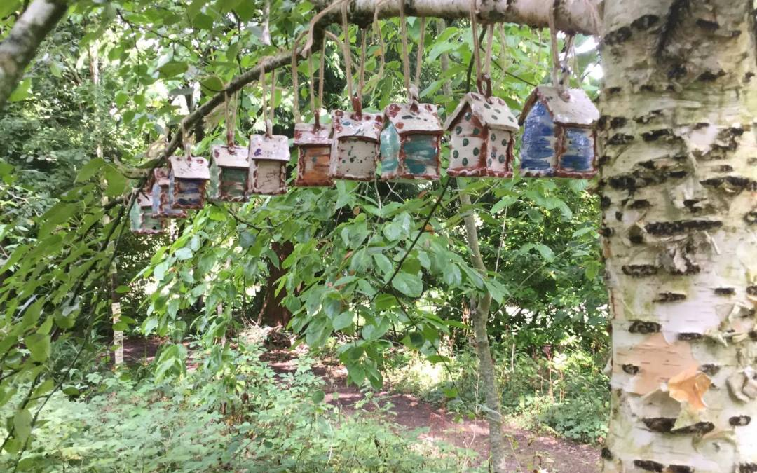 bug houses at hellens manor garden festival 2020