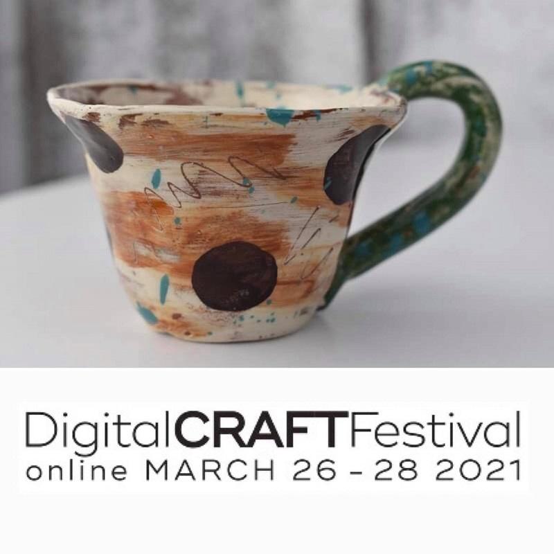 espresso cup and digital craft festival logo