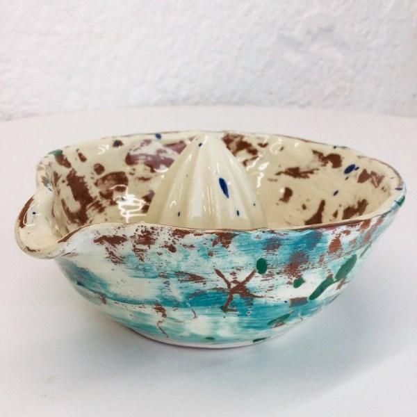 teal juicer made by sarah monk ceramics