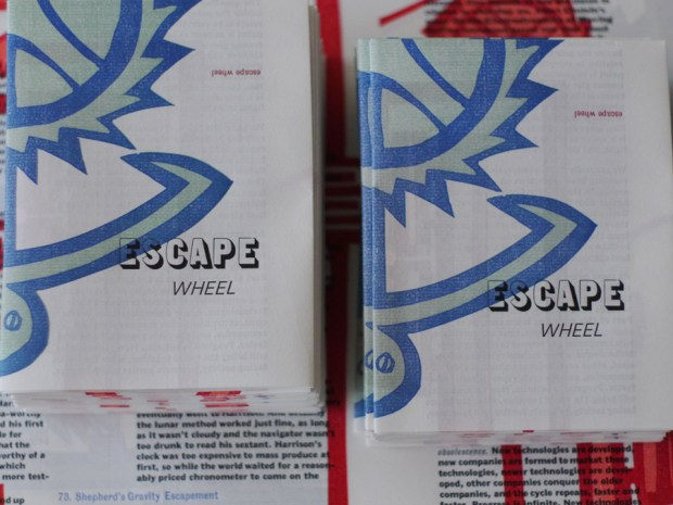 escape wheel informational letterpress pamphlet