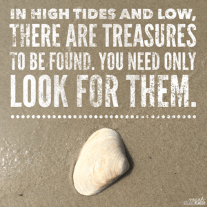 In high tides and low there are treasures to be found. You need only look for them.