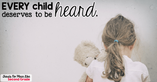 Every child deserves to be heard.