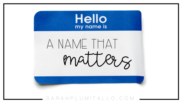 My Name Matters: A Challenge for All