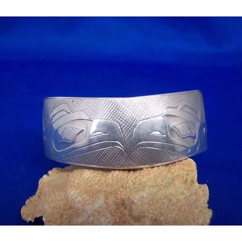Silver Double Eagle Bracelet by Chris Russ