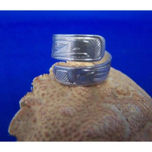 Silver Eaglel Wrap Ring by Chris Russ