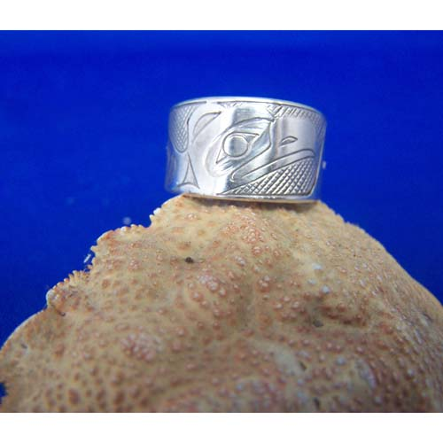 Silver Eagle Ring by Chris Russ