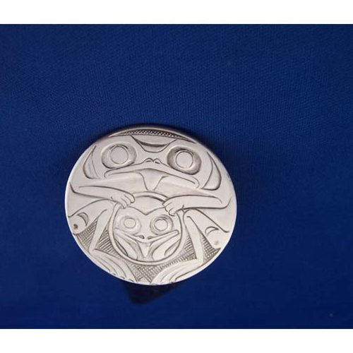 Silver Frog Pin by Chris Russ