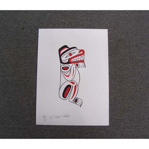 Limited Edition Silk Screen Bear Print by Cooper Wilson