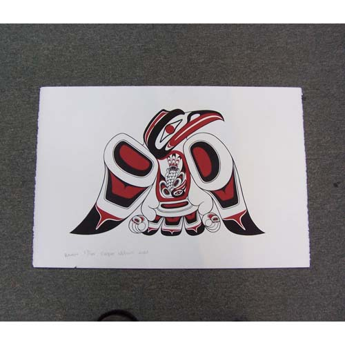 Limited Edition Silk Screen Raven Baby Raven by Cooper Wilson