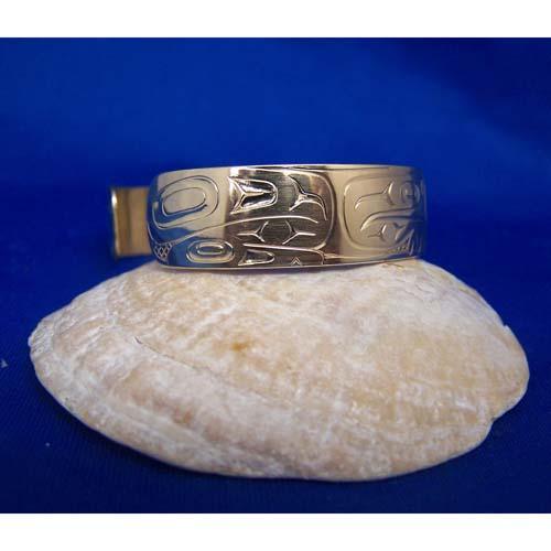 14K Gold Frog Bracelet by Dere;k White