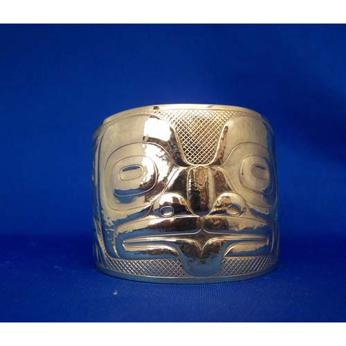 14K Gold Two Inch Frog Bracelet by Derek White