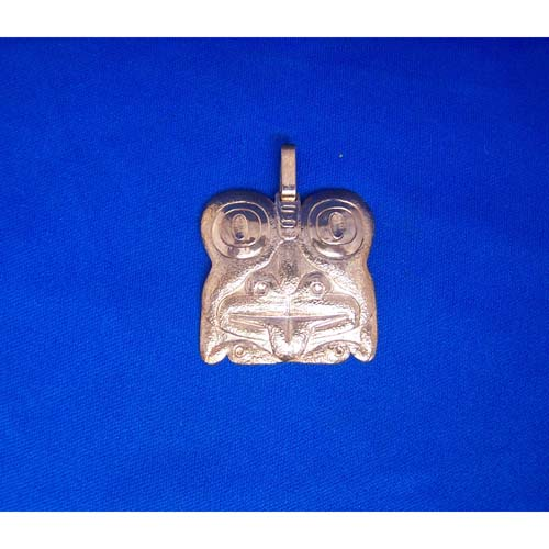 Copper Reprosee Frog Pendant by Derek White