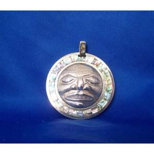 Moon Silver Abalone Pendant by Derek White