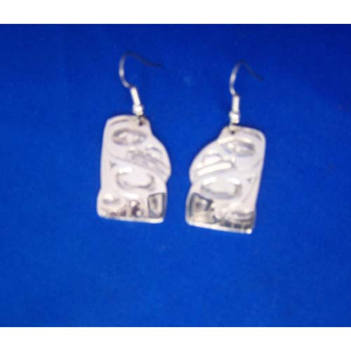 Silver Raven Earrings by Derek White