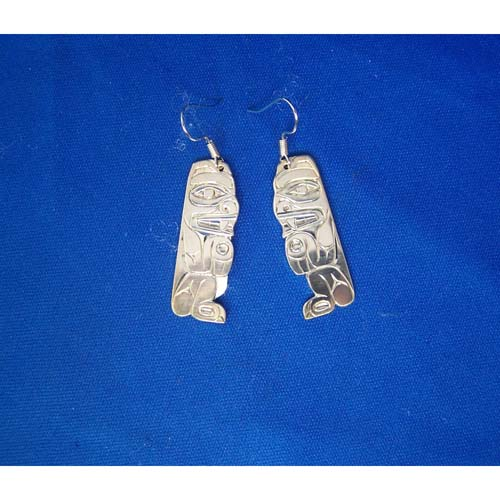 Silver Bear Earrings by Derek White