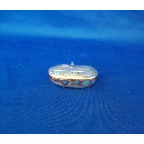 Silver Clamshell Pendant by Derek White
