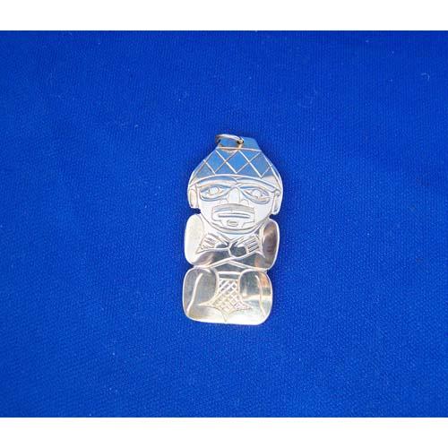 Silver Watchman Pendant by Derek White