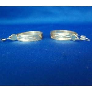 Silver Raven Hoop Earrings by Derek White