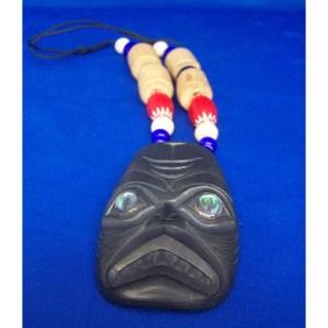 Argillite Dogfish Pendant by Donnie Edenshaw