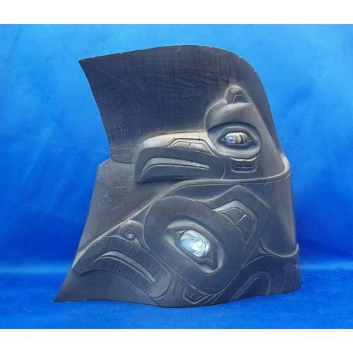 Argillite Raven Human Transformation by Fred Wilosn