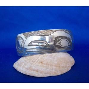 Silver Raven Bracelet by Fred Wilson