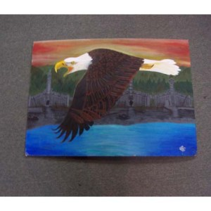 original Acrylic Eagle by Theodore Bell