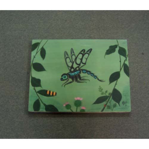 Original Acrylic Dragonfly by Theodore Bell