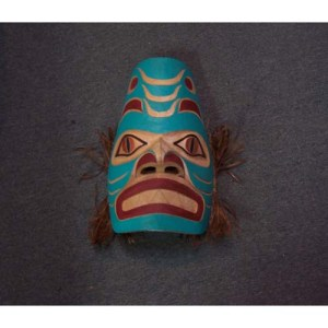 Haida Red Cedar Shark Mask by Gene Davidson - Haida Arts and Jewellery Masset BC