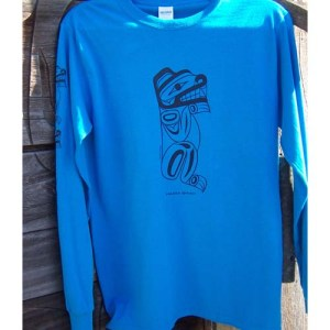Bear Silk Screen long sleeve T-Shirt by Cooper Wilson